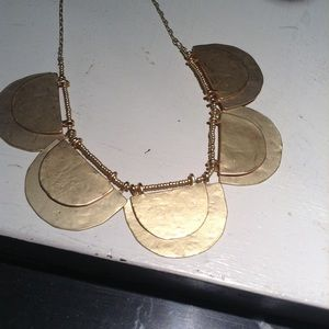Loft matte gold necklace NWT